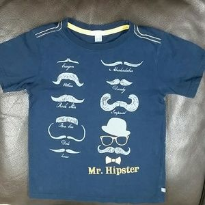 Short sleeve navy 5 Petit Lem Mr Hipster tee